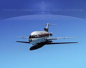 3D model Boeing 727-100 Japan Airlines 1