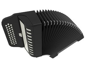 Accordian 3D model game-ready