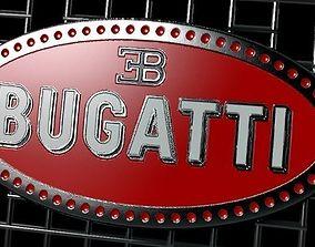 3D asset LOGO FRONT BUGATTI
