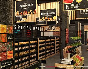 Supermarket 3D Model Interior Design
