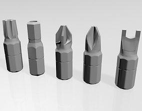 Screwdriver Screw Heads 01 3D model