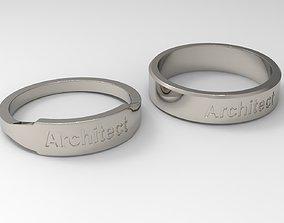 Architect Couple Ring Platinum 3D printable model
