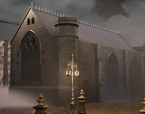 Victorian Chapel 3D asset