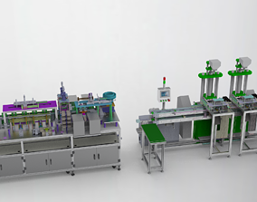 Usb cable production equipment 3D