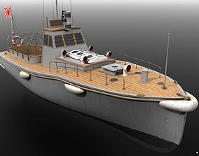 3D model warship Japanese 11m 60Hp motor boat