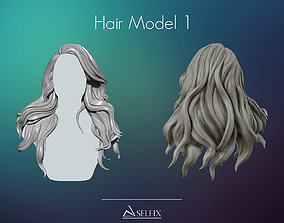 Hairstyle female 01 ready to 3D print