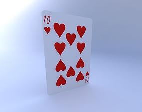 3D model Ten of Hearts