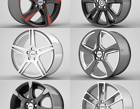 Volvo S60 rims collection 3D