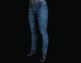 3D asset FemalePantsAndShoes