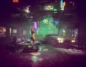 cyberpunk - Cyber City 3D asset