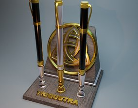 3D print model Stand for handles Triquetra