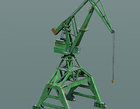 Crane for shipyard container terminal or 3D model
