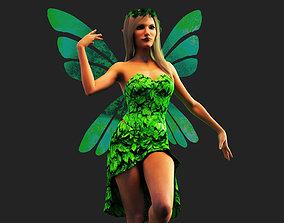 Fairy 3D model animated