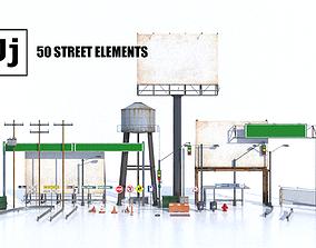 Street Elements Package JJ 3D model