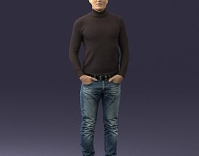 3D printable model Man in a turtleneck and jeans 0363