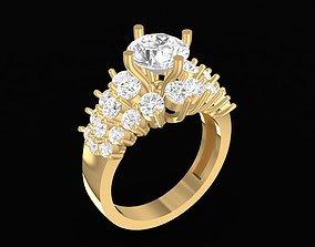 152 Diamond Women Ring 3D printable model