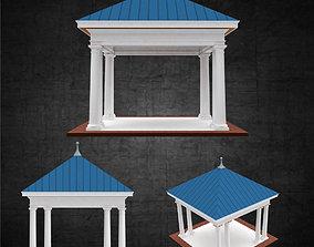 3D model Pavilion free standing structure architectural 1