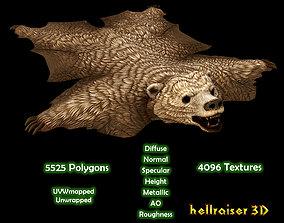 3D asset Bear Rug - PBR - Textured