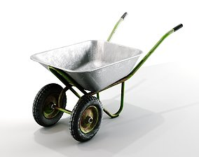 Old wheelbarrow 3D