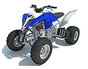 gokart Raptor Yamaha Four-wheeled Motorcycle 3D