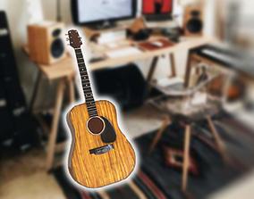 Guitar 3D asset game-ready