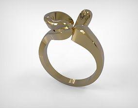 Jewelry Golden Modern Design Ring 3D printable model