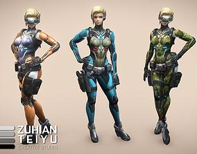 HiTech Cyber Soldier 3D model