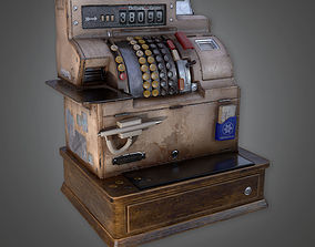 3D model Cash Register Dive Bar - PBR Game Ready