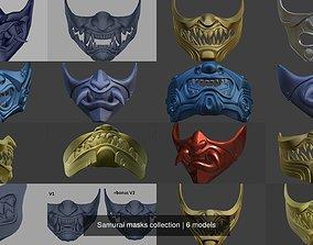 Samurai masks collection 3D model