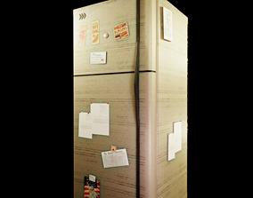 A fridge low poly 3D model low-poly