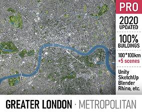 3D Greater London - metropolitan area