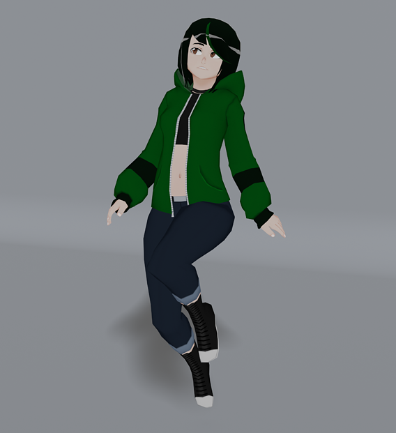 Serena - Low Poly Character