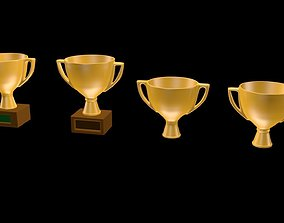 Victory cups glassware 3D model