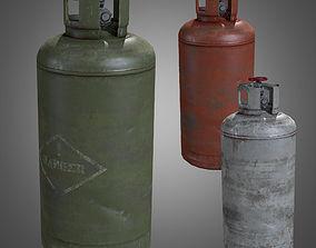 3D asset Gas Cylinder - PBR Game Ready