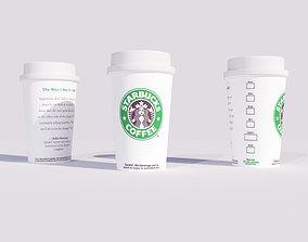 VR / AR ready Starbucks Coffee Cup 3d model