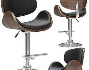Eames Lounge Bar Stool 3D