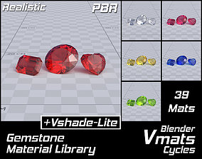 3D VMATS Gemstone Material Library for Blender Cycles