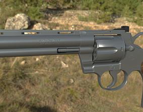 3D asset rigged Colt Python