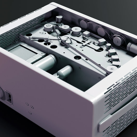 Klemt Echolette NG 51 Tube Tape Echo 3D Model