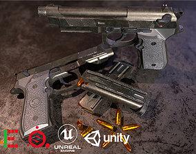 Game Ready Pistol M9 D180720 3D model