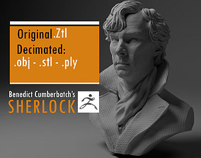 3D print model Benedict Cumberbatch Sherlock