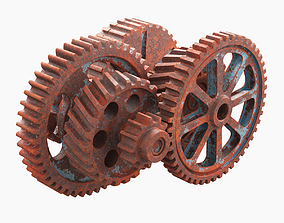 3D animated Rusted Mechanism