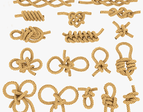 3D asset rope knot bundle