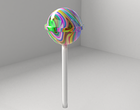 3D model Pastel Color Lollipop 5