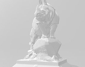 3D printable model scientific rhino