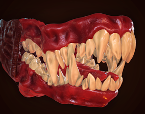 3D model rigged Dragon Teeth-Mouth