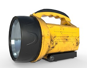 3D asset realtime Flashlight Camping - PBR Game Ready
