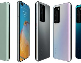 3D model Huawei P40 Pro All Colors