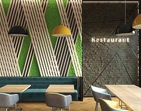 Modern Restaurant Scene furnishing 3D