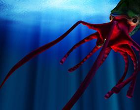 3D Giant Monster Squid